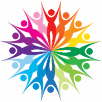Diverse WA logo (rainbow coloured people in a circle)